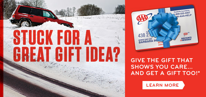 Stuck for a great gift idea? Give the gift of aaa and receive free plus upgrade and a $10 gift card. Learn More